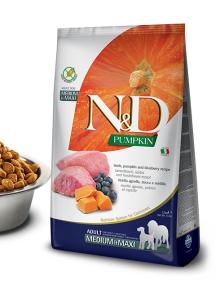 N&D dog GF PUMPKIN ADULT M/L lamb/blueberry