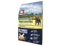 ONTARIO dog WEIGHT CONTROL MINI turkey