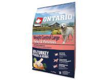 ONTARIO dog WEIGHT CONTROL LARGE turkey