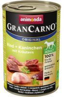 Animonda dog konzerva Gran Carno hovädzie/králik/bylinky