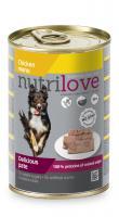 NUTRILOVE pes konz. KURACIE / paté