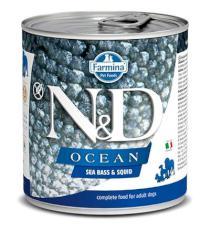 N&D dog OCEAN konz. ADULT sea bass/squid