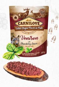 CARNILOVE dog vrecko piatej Venison / jahoda leaves