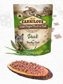 CARNILOVE dog kapsa  PATÉ DUCK/timothy grass