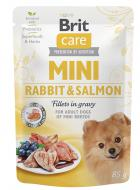 BRIT CARE dog  MINI kapsa ADULT  rabbit/salmon