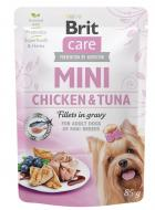 BRIT CARE dog MINI kapsa  ADULT chicken/tuna