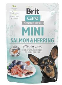 BRIT CARE dog  MINI kapsa  STERILISED  salmon/herring